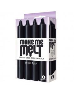 Make Me Melt Candles 4 Pack Jet Black